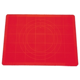 Vál na těsto silikonový DELÍCIA 48x38 cm, červená