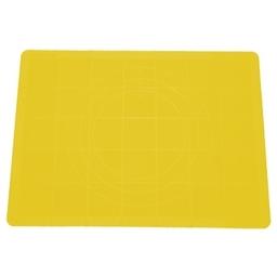 Vál na těsto silikonový DELÍCIA 58x48 cm, žlutá