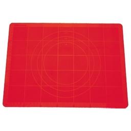Vál na těsto silikonový DELÍCIA 58x48 cm, červená