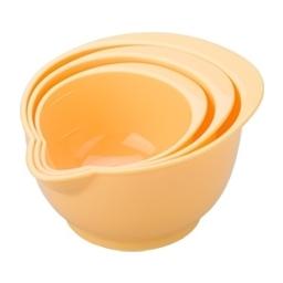 Misky plastové DELÍCIA, sada 3 ks, žlutá