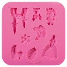 Silikonové formičky DELÍCIA DECO, pro holky