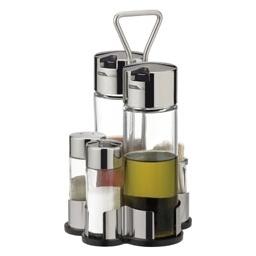Souprava olej - ocet - sůl - pepř - párátka CLUB