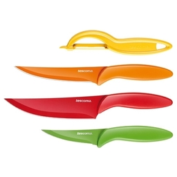 Antiadhezní nože a škrabka PRESTO TONE, sada 4 ks
