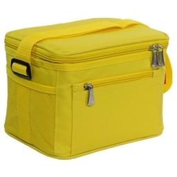 Termobrašna s gelovým chladičem COOLBAG, 2 dózy, žlutá
