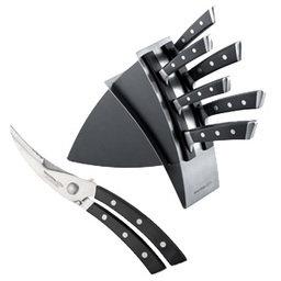 Výhodný balíček: Blok na nože AZZA plus Nůžky na drůbež AZZA