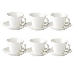 Výhodný balíček: Šálek na čaj ALLEGRO s podšálkem, 6 ks