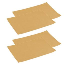 Výhodný balíček: Prostírání na stůl FLAIR 45x32 cm, medová, 4 ks