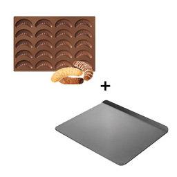Výhodný balíček: Forma na rohlíčky Delícia Silicon plus plech bez okrajů Delícia