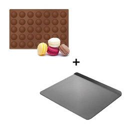 Výhodný balíček: Forma na makronky Delícia Silicon plus plech bez okrajů Delícia
