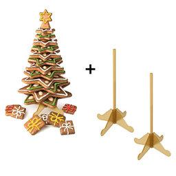 Výhodný balíček: Vánoční stromeček Delícia plus stojánek pro vánoční stromeček Delícia, 2 ks